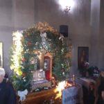 Baldachinul cu moastele Sf. Serafim de Sarov din Camineasca