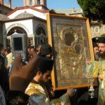Procesiune cu Sfânta Icoană a Maicii Domnului Portărița